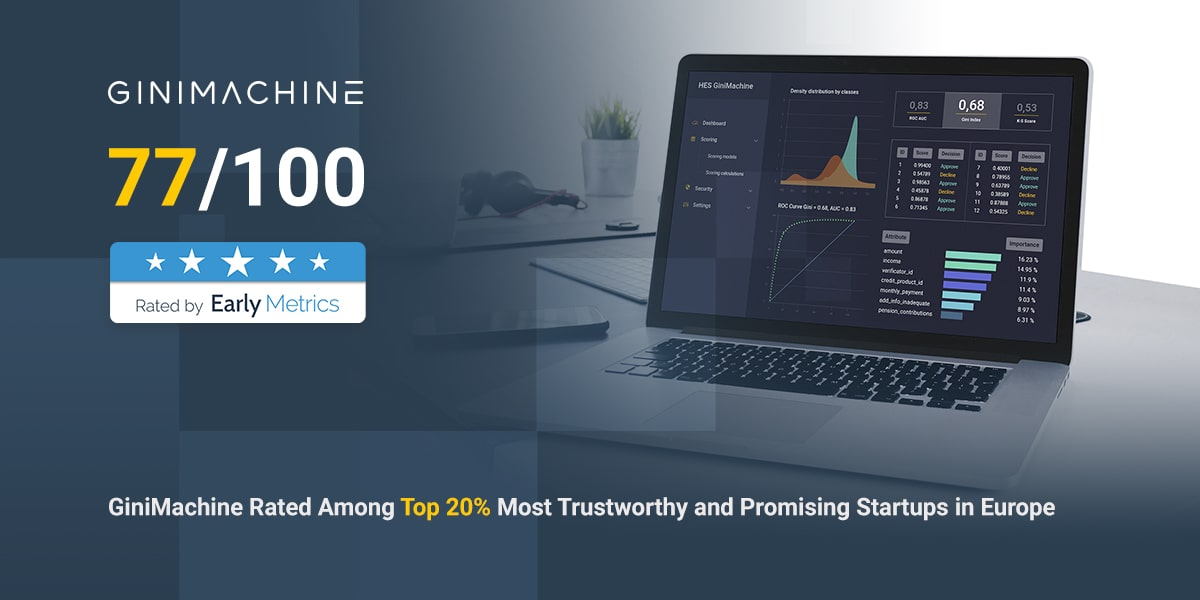 GiniMachine Rated Among Top 20% Most Promising Startups in Europe